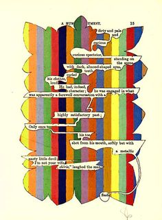 Altered Book Page Poetry