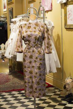 Cabaret Vintage - Vintage Fall Leaf dress, $195.00 (http://www.cabaretvintage.com/dresses/vintage-fall-leaf-dress/)