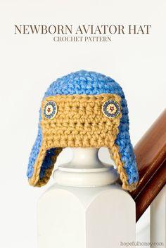 Newborn Aviator Hat ~ free pattern