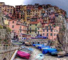 Cinque Terre, Portovenere and the Poets  //  The Cinque Terre is a rugged portion of coast on the Italian Riviera.