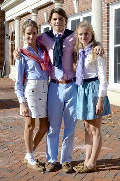 Spirit Week: Preppy Day Maggie, Nico, and Emma
