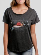 Creator - Multicolor on Heather Black Triblend Womens Dolman T Shirt - Curbside Clothing