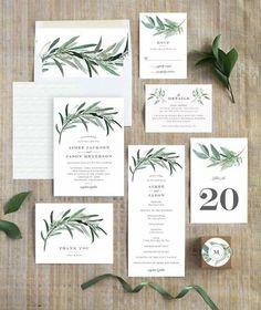 Convite de Casamento | Folhagem
