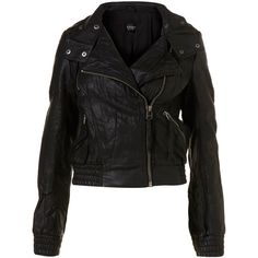 Faux Leather Bomber Jacket ($106) ❤ liked on Polyvore