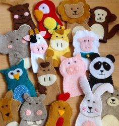 Farm animals finger felt puppets by FamilyCraft45 on Etsy