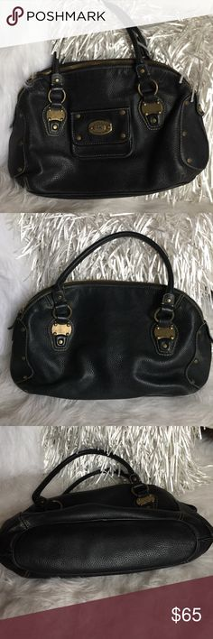 Authentic Michael Kors  Vintage Bag Perfect condition on outside after all the use. This bag is a classic vintage style. Gold hardware. The inside cloth is ripped in places, and is stained from age, wear and usage. Other than the inside, the bag looks beautiful and new on outside. MICHAEL Michael Kors Bags Satchels