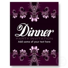 dinner party invite templates