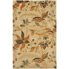 @Overstock - Bring a touch of the garden into your home with the blossoms collection. This floor rug has a beige background and displays stunning panel colors of green, ivory, orange, light blue and purple.http://www.overstock.com/Home-Garden/Handmade-Blossom-Paradise-Beige-Wool-Rug-5-x-8/6054811/product.html?CID=214117 $176.99