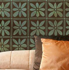Wall Stencil | African Flower Stencil | Royal Design Studio
