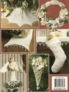 Annie's Attic 872393 Christmas Creations Tatting Annie's Attic, Christmas Knitting, Knit Or Crochet, Christmas Stockings, Tatting, Crochet Patterns, Holiday Decor, Projects, Log Projects