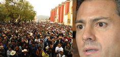 """Marchan miles en Chiapas contra las """"reformas"""" entreguistas y exigiendo """"tumbar"""" a Peña Nieto."""