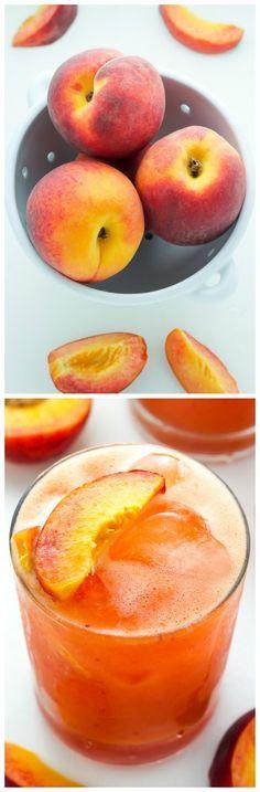 Fresh Peach Margaritas - easy and so refreshing!