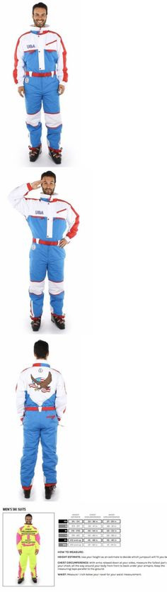 Snowsuits 62178: Tipsy Elves Mens Usa Ski Snow Suit - Medium - New - Ships Free -> BUY IT NOW ONLY: $79.5 on eBay!