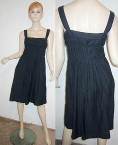 VINCE Cotton Silk Voile Elasticized Chest Geo Embroidered Skirt Shift Dress 10...http://stores.shop.ebay.com/vintagefluxed