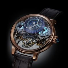 Bovet 1822 Swiss handcrafted timepiece Dimier Récital 20 Astérium® with Flying Tourbillon Night Sky Annual Calendar with Astronomical Functions Lux Watches, Fancy Watches, Rose Gold Watches, Cool Watches, Fashion Watches, Mens Designer Watches, Luxury Watches For Men, Skeleton Watches, Versace Men