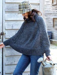 Cozy Cowl-Neck Cape | Yarn | Free Knitting Patterns | Crochet Patterns | Yarnspirations