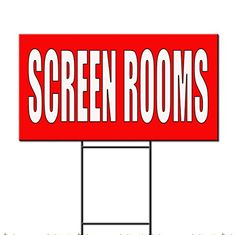 Screen Rooms Red Home Remodeling Corrugated Plastic Yard Sign FREE Stakes 18 x 24 Inches Two Sides Print * Want to know more, click on the image.