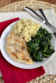 Creamy Garlic Shells is an easy pasta side dish. No store bought pouch required! Plus a recipe for sautéed kale. | iowagirleats.com NOTE: watch the amount of garlic used, and be patient for the sauce to thicken