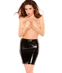 Sexy Siren Wet Look Lycra Skirt by Allure Leather AL-13-3602K