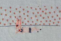 bathing bunny embroidery x Adriana Torres via Anthology Mag