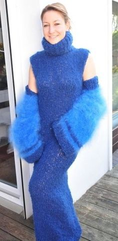 Gros Pull Mohair, Angora, Catsuit, Jumpers, Mittens, Fur Coat, Creations, Turtle Neck, Women's Fashion