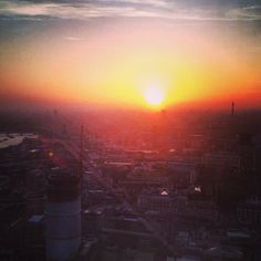 Watching the sun set from Heron Tower