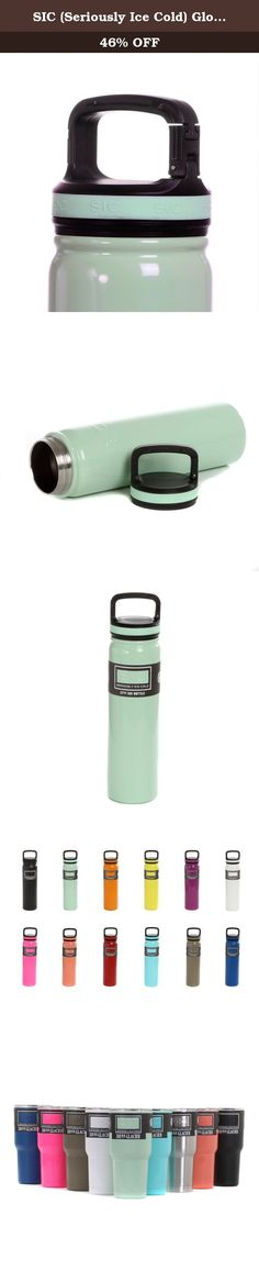 SIC (Seriously Ice Cold) Glossy Mint 27 Oz. Travel Sport Bottle Double Wall Stainless Steel Vacuum Insulated No Sweat Bottle with Carabiner Lid - BPA Free Drinkware. Stainless & Powder Coated Colors. 27 Oz. Vacuum Insulated Double Wall Stainless Steel SIC (Seriously Ice Cold) Bottle. Take Anywhere with you and keep your drinks Seriously Ice Cold All Day & Night!.