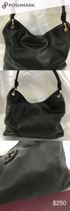 Tory Burch handbag Very god quality leather. Got little scratch on the outside. Come with dust bag Tory Burch Bags Shoulder Bags