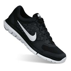 Nike Flex Run 2015 Women's Running Shoes in Black White