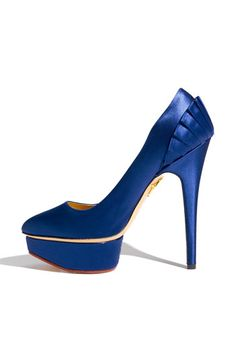 Charlotte Olympia 'Paloma' Pleated Satin Pump #wedding