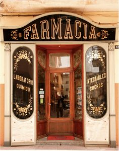 Farmacia shop front. Barcelona?