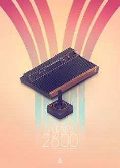Atari 2600 Created by Manu Talavera Classic Video Games, Retro Video Games, Video Game Art, Computer Video Games, Gaming Computer, F Video, Game Codes, Old Games, Vintage Games