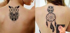 Significado das tatuagens de coruja