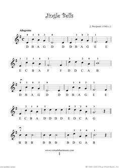 Jingle Bells, simple & notated
