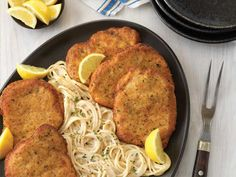 Pork Milanese with Cacio e Pepe Spaghetti - Pork Recipes - Pork Be Inspired