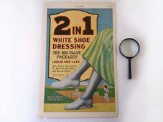 Vintage Magazine Paper Ephemera 1920 White Shoe by RecycledWares, $8.00