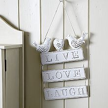 Live Laugh Love, Love Birds Plaque