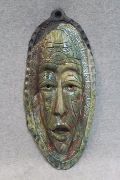 African Raku Mask number 7 by julianopottery on Etsy, $40.00