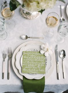 hand penned notes to each guest | Nancy Ray #wedding