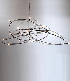 Nebulla: Sculptural steel chandelier Rustic Lighting, Lamp Design, Cool Lighting, Nebula Chandelier, Lighting Design, Home Lighting, Lights, Rustic Pendant Lighting, Chandelier