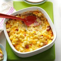 Ham & Cheese Potato Casserole Recipe