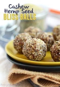 Cashew Hemp Seed Bliss Balls- FitFoodieFinds.com