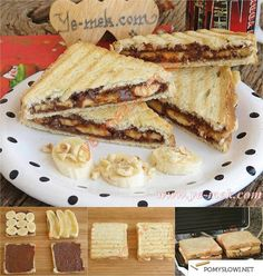 How to cook Chocolate Banana French Toast Recipe? You can easily make Chocolate Banana French Toast Recipe. Banana French Toast, Cooking Chocolate, Banana Slice, Bread And Pastries, Nutella, Breakfast Recipes, Sweet, Ethnic Recipes, Desserts