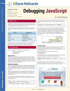 The Essential Debugging JavaScript Cheat Sheet