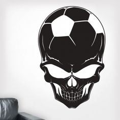https://www.wallsplots.com/Sports-Splots/Soccer_Skull Skull soccer ball hybrid wall decal, perfect for any soccer enthusiast This product is made in the USA and produced in 7 to 10 business days plus the shipping time to your location. This contour cut repositionable vinyl decal is printed on Phototex film.