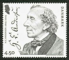 Hans Christian Andersen  (1805 – 1875) Sello de Dinamarca