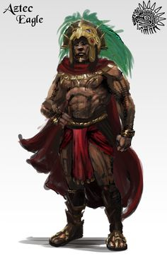 ArtStation - Aztec Eagle Warrior, Denzil Forde