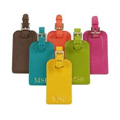 Personalized Bright Leather Luggage Tags