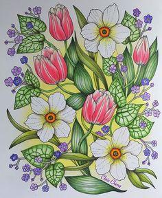 Instagram media colorvscolour - My happy garden . #blomstermandala #mariatrolle…
