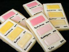 Paint chip cookies - cute housewarming party idea